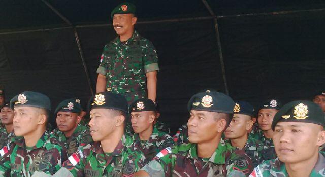 Danrem bersama prajurit Satgas Pamtas RI-RDTL