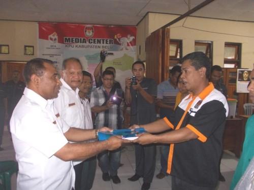 Paket VIAR Serahkan 22.197 Berkas Dukungan ke KPU Belu