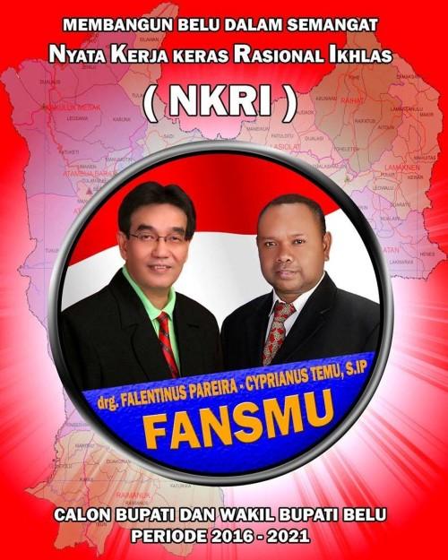 Besok, Paket FANSMU Daftar di KPU Belu