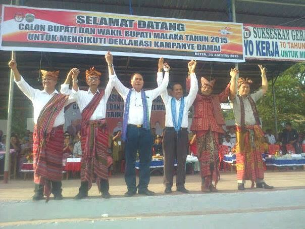 Tiga Paslon, TULUS, SBS-DA dan TABE deklarasikan kampanye damai di Malaka.