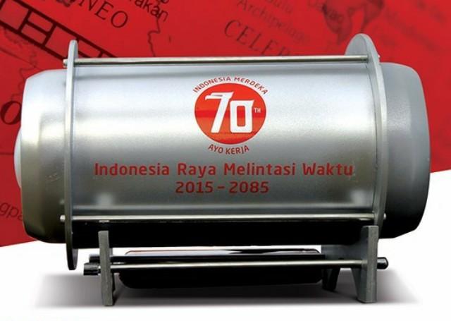 Inilah kapsul waktu 2015-2085 yang akan dibawa keliling seluruh Indonesia termasuk Kupang, Rote dan Atambua.