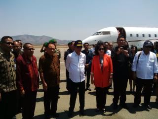Kunjungan para Menteri dan KaBIN di Kabupaten Belu, Kamis lalu.