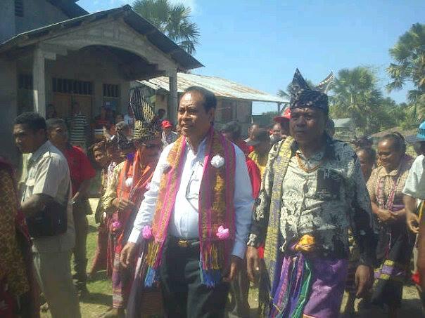 Tampak kandidat Bupati Malaka, Stefanus Bria Seran dalam salah satu kesempatan kampanye belum lama ini.