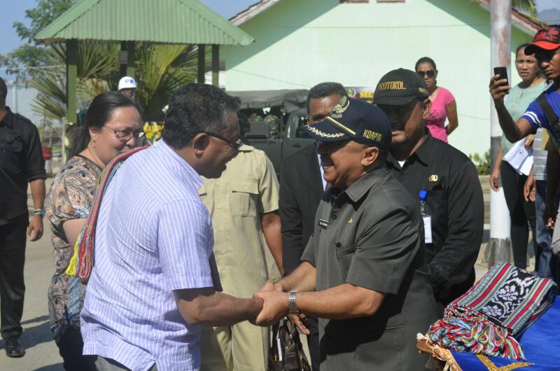 PM Timor Leste diterima Asisten III Sekda Belu di Perbatasan Motaain.