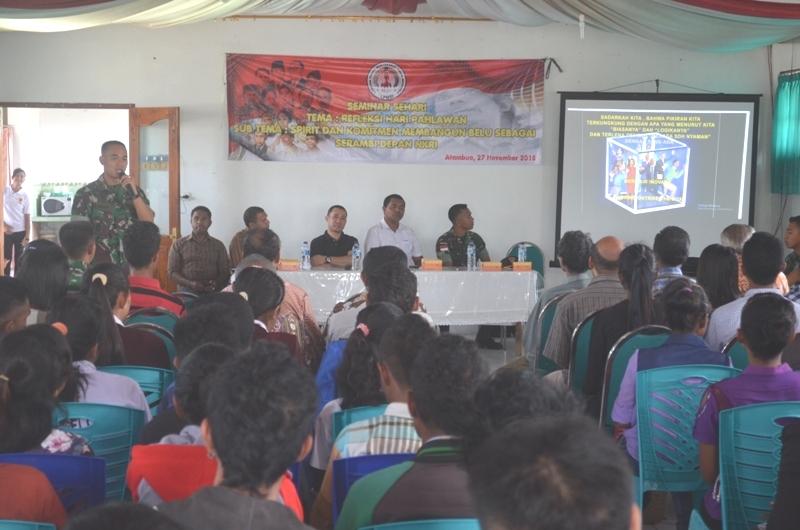 Inilah suasana seminar tentang kepahlawanan yang digelar LMPTI Cabang Belu, Jumat (27/11).
