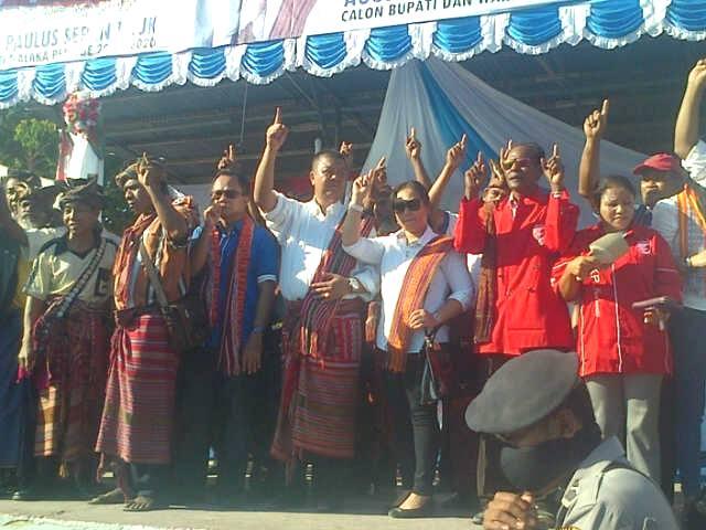 Kampanye Paslon TULUS di Betun, Jumat sore tadi.