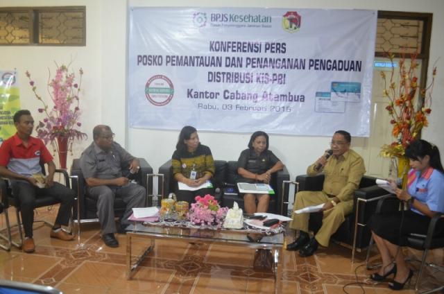 Konfresnsi Pers oleh BPJS Kesehatan Cabang Atambua.