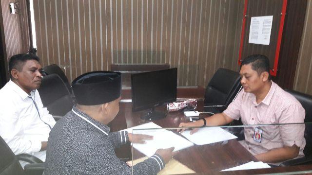 Bupati Lembata, Eliaser Yentji Sunur Dilpaorkan ke Bareskrim Mabes Polri, Kamis kemarin.