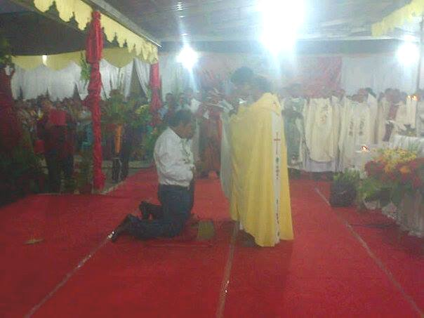SBS-DA Diberkati para Imam dalam misa syukur sore tadi.