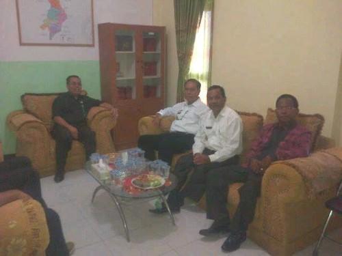 Bupati, Wabup dan Sekda Malaka bertemu Ketua PN Atambua, Kamis pagi tadi.