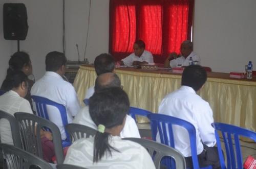 Wabup  Belu, JT Ose Luan sedang berbicara dalam forum SKPD Belu.