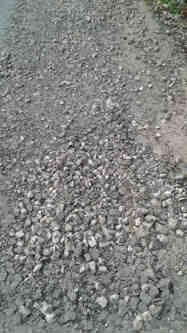 Inilah kondisi jalan Numponi-Uabau yang rusak.