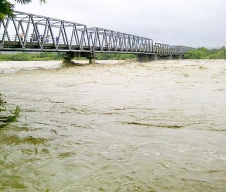 Tampak Sungai Benenain ketika banjir