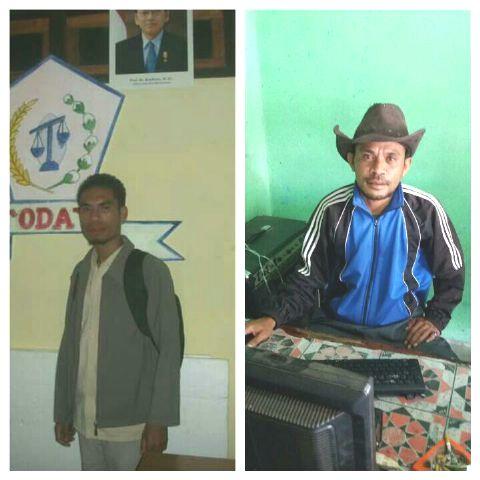 Aktivis TTS, Miel Teftae (Kiri) dan Juptan Banunaek (Kanan)