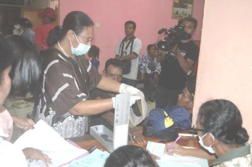 AKAD sedang menjalani pemeriksaan kesehatan di RSUD Atambua.