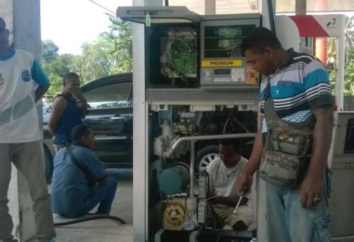 Inilah mesin pada SPBU Sukabi yang mengalami kerusakan.