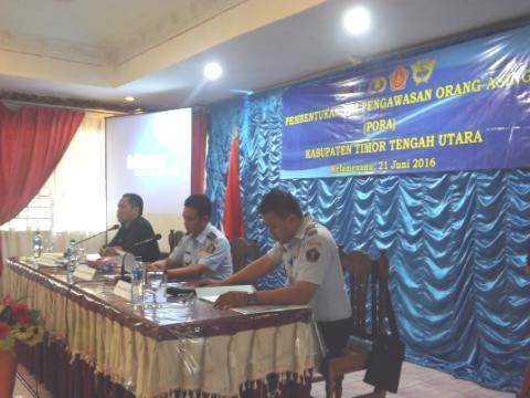 Imigrasi Atambua, menggelar rapat pembentukan Tim PORA TTU di Kefamenanu.