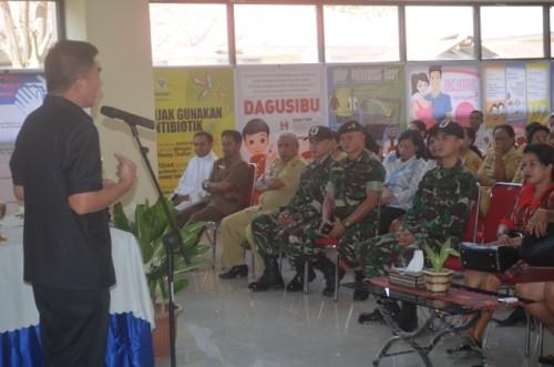Bupati Belu ketika memberi sambutan dalam syukuran pemanfaatan IGD RSUD Atambua.