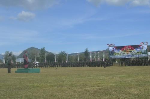 Pangdam Udayana pimpin apel pembukaan operasi teritorial 2016.