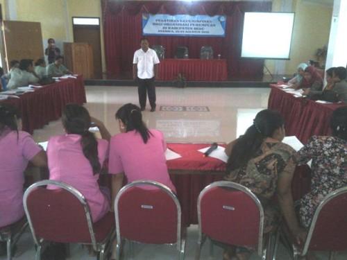 Perwakilan 11 organisasi perempuan di Belu ikut pelatihan.