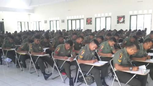 Pasukan 744/SYB ikut ujian seleksi pasukan UN.
