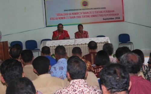 Sekda Kabupaten Kupang buka sosialisasi KTP-e