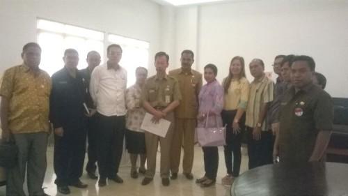 DPRD dan Pemerintah Kabupaten Malaka pose usai konsultasi di Kemendagri.
