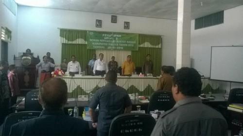 Bupati dan DPRD Malaka ikuti penutupan sidang DPRD.