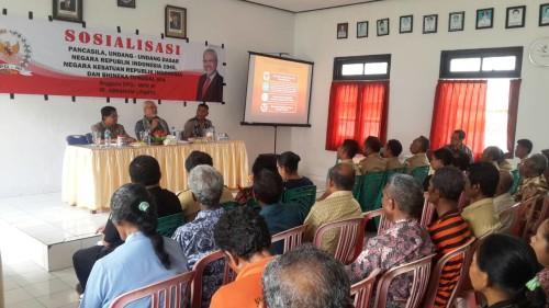 Paul Liyanto sosialisasi empat pilar di Amanuban Tengah, TTS.