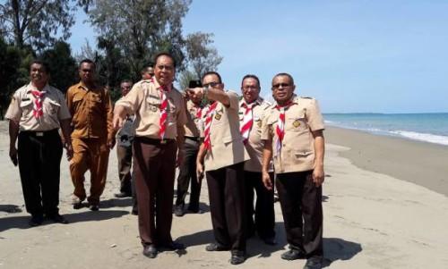 Gubernur NTT bersama Bupati Malaka pantau lokasi pelabuhan di Kobalima.