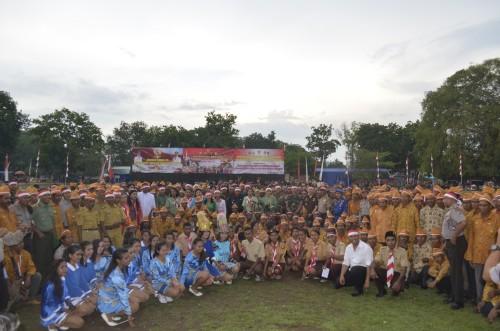 Warga Belu dan Malaka hadiri Apel Nusantara Bersatu.