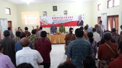Anggota DPD/MPR, Abraham Paul Liyanto sosialisasi Empat Pilar di Soe, TTS.