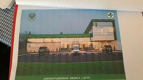 Inilah prototipe gedung Puskemas yang akan dibangun tiga kecamatan tersebut.