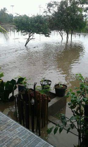 Inilah kondisi genangan banjir di Desa Silawan.