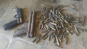 Inilah pistol pistol rakitan dan peluru yang diamankan Kodim Belu.