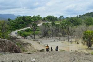 Inilah salah satu titik rawan longsor di Asulait.