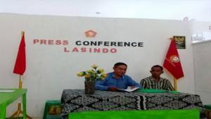 Pimpinan Lasindo NTT gelar jumpa pers.