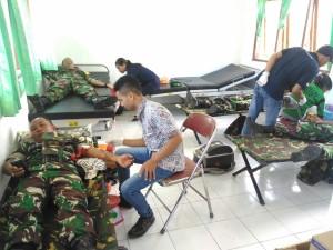 Aksi donor darah Kodim Belu.