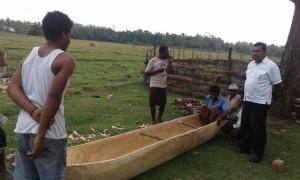 Inilah perahu bantuan dari Vinsen Kehi Lau.