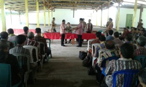 Acara sertijab kepala sekolah di Betun.