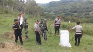 Pasukan TNI dan Kepolisian lakukan patroli di Perbatasan RI-Timor Leste.