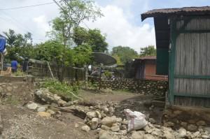 Ini salah satu rumah yang terdampak banjir.