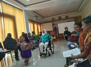 Diskusi tentang kaum Disabilitas.