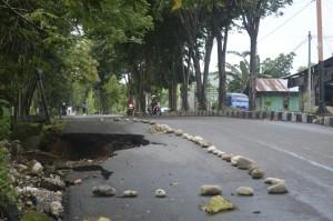 Inilah kondisi jalan El Tari di Atambua.