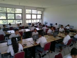 Siswa SMAK Suria Atambua ikut USBK.