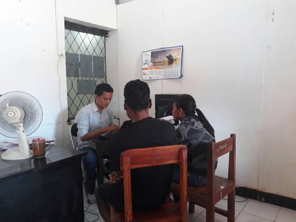 Tampak TKI asal Belu yang diperiksa polisi di Pangkal Pinang.