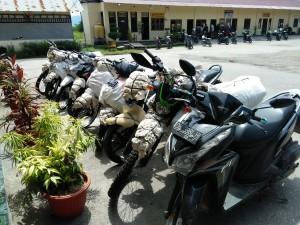 Ini barang bukti sepeda motor yang diamankan Polres Kupang.