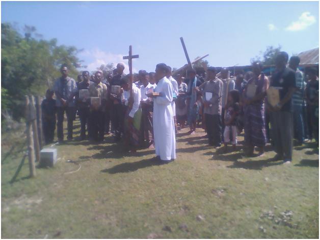 Jalan Salib di Pantae, TTU.
