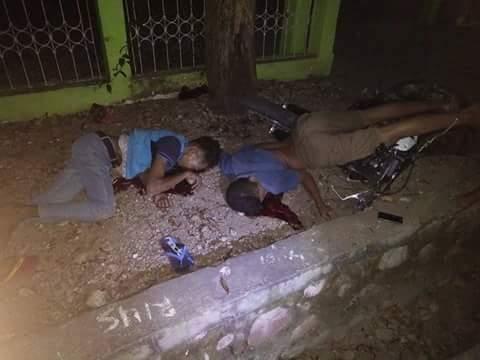 Korban lakalantas di depan kantor Lurah Beirafu.
