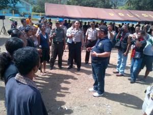 Lagu Indonesia Raya Dikumandangkan Warga Silawan Perbatasan RI-RDTL Penuh Haru